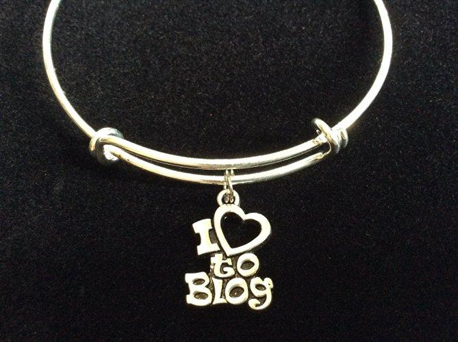 I Love to Blog Bangle Bracelet