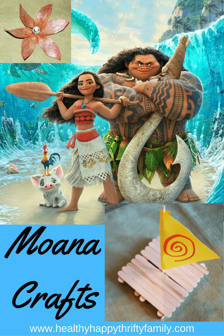 Disney Moana Crafts from Healthy Happy Thrifty Family