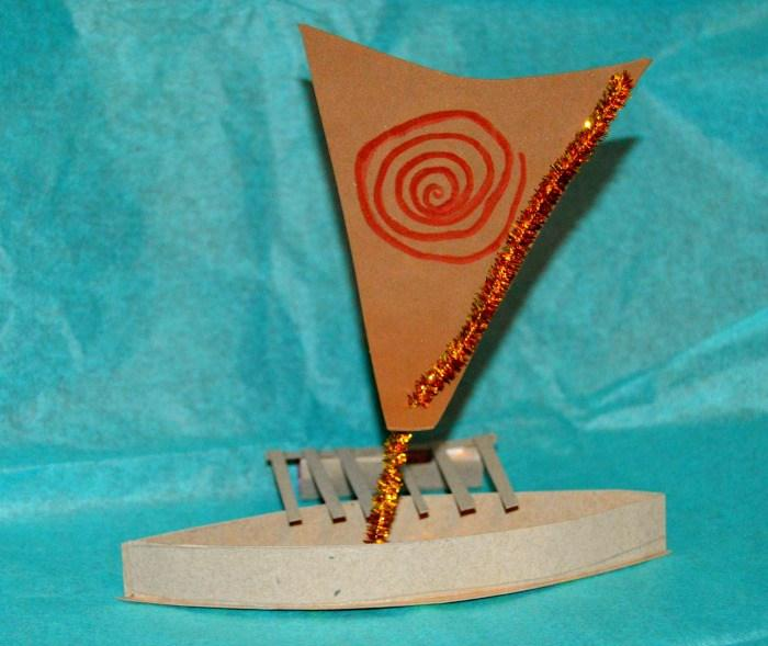Disney's Moana Boat Craft from The Kids Did It