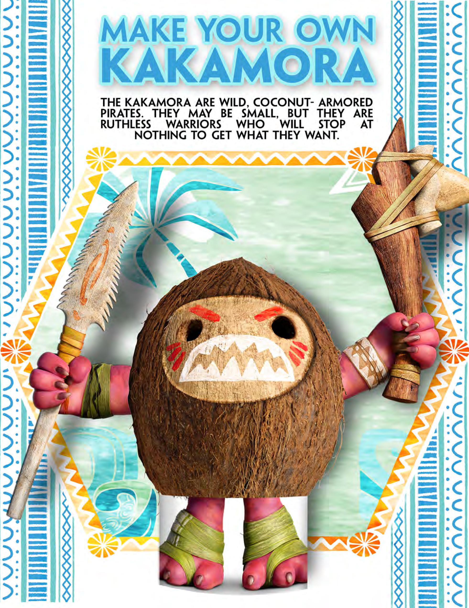 Make Your Own Crazy, Coconut-Armored Kakamora Pirate from The Review Wire