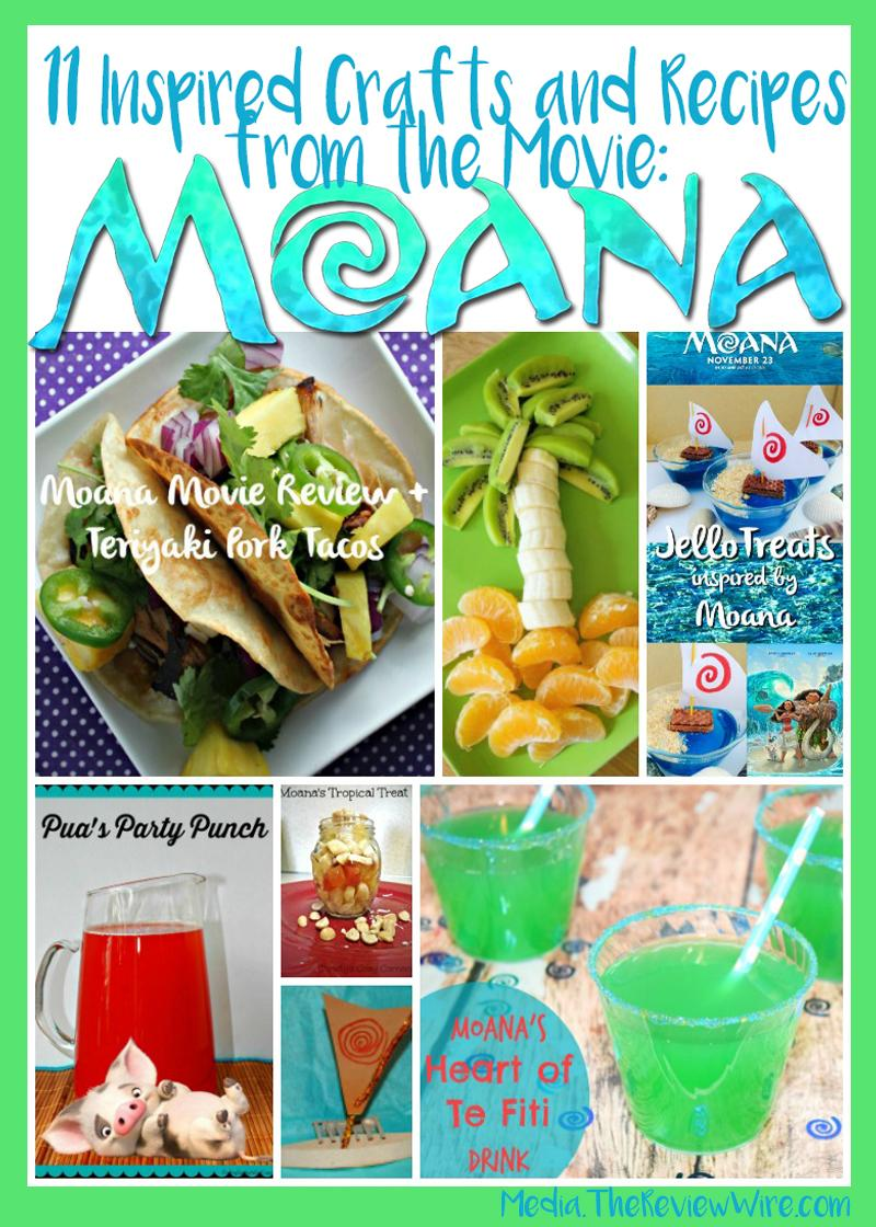11 Moana Inspired Crafts and Recipes
