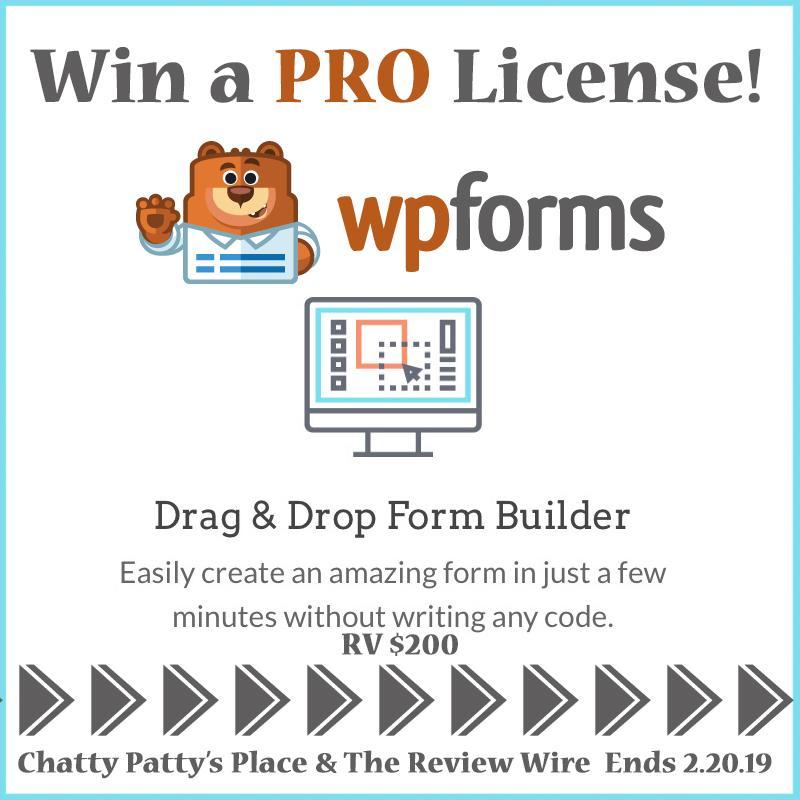 wpforms giveaway. ends 2.20.19