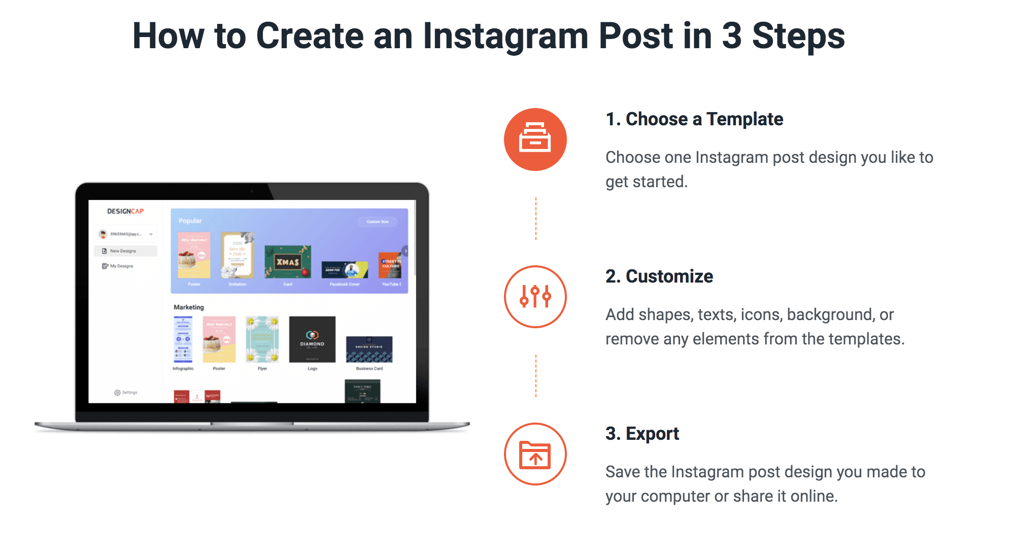 DesignCap - How to Create an Instagram Image